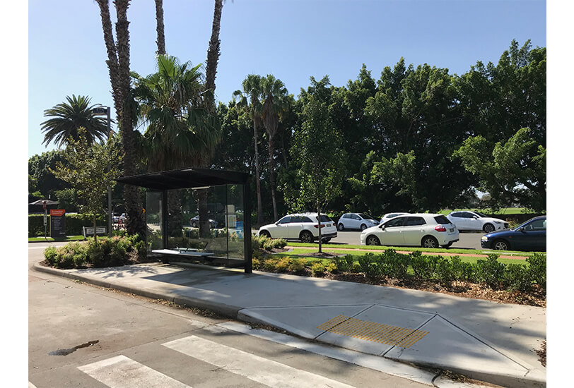 project services team install botany bus shelter